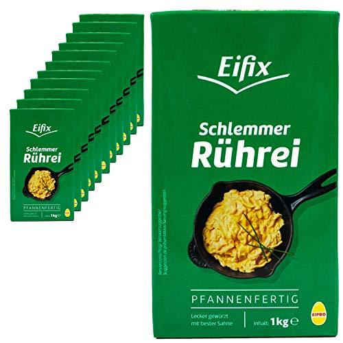 Eifix - 12er Pack Schlemmer Rührei pfannenfertig 1 kg Packung - Eipro Vollei flüssig lecker gewürzt mit bester Sahne (pasteurisiert)