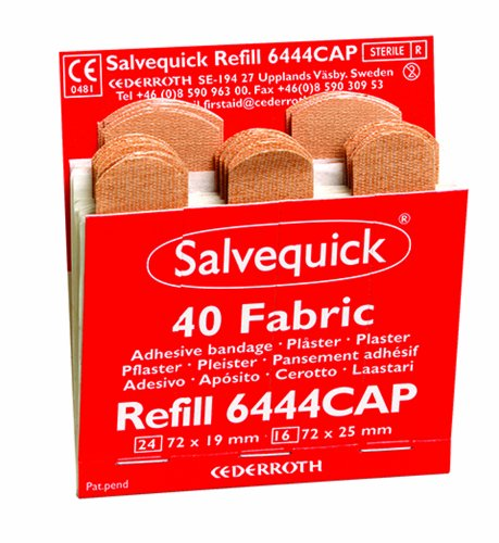 Salvequick Sofortpflaster Box 6x40 Textile REF 6444