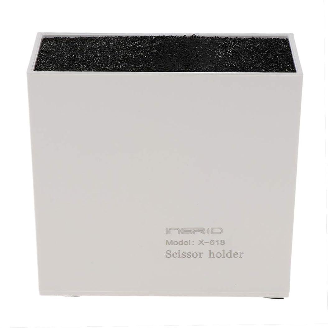 日妨げる選択ヘアサロン装飾 美容院収納用 はさみ収納ケース はさみラック サロンはさみホルダー シザーホルダー 全6色 - ホワイト