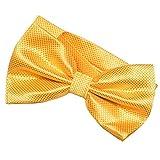 DonDon Pajarita para hombre de 12 x 6 cm ajustable y lista para usar - amarillo