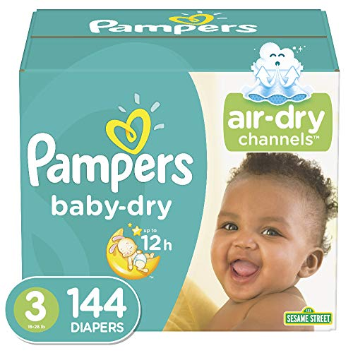 Diapers Size 3 144 Count  Pampers Baby Dry Disposable Baby Diapers Giant Pack