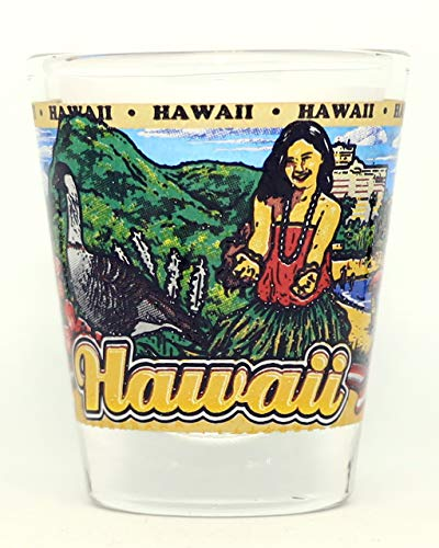 Hawaii State Wraparound Shot Glass