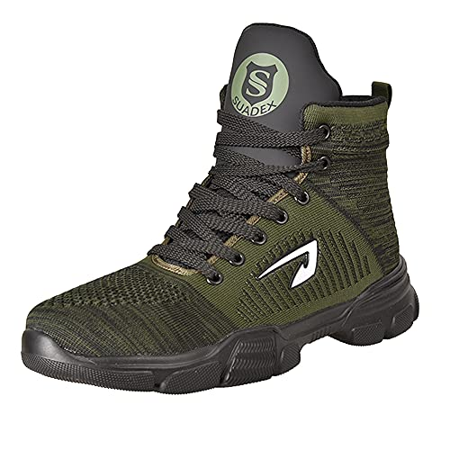 SUADEX Steel Toe Boots for Men Women...