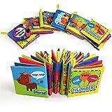 BelleStyle Libro Bebe, Libro Texturas Bebe para Juguetes Bebes 1 Año, Cloth...