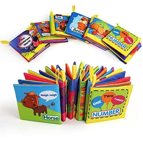 Libro Bebe, BelleStyle Libro Texturas Bebe para Juguetes Bebes 1 Año, Cloth...
