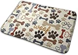 OHDS Woof Dog with Multi-Colors Background Design Bathroom Mat, Non Slip and Absorbent Rug Mats for Kitchen Floor Bathroom, Machine Washable Dry, Super Cozy Smooth Carpet Rugs Room Decor, 16x24 Inchs