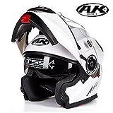 バイクヘルメット フルフェイスヘルメット システムヘルメット フリップアップヘルメット ダブルシールド PSC付き YHZ-35[商品10/L]