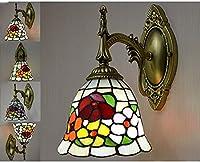CHOUREN ティファニースタイルの壁面ライト、ランプシェード、1つのライト、レトロな金属の壁の燭台の装飾夜間のライト、14 (色 : 12)