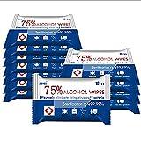 Toallitas con alcohol 75% toallitas húmedas grandes para limpieza multiusos (10 unidades)