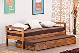 Dimensions: Length (175 cm) ,Width (65 cm) ,Height (55 cm). Bed size: Single Material: Solid Wood - Sheesham Wood, Finish: Wood, Color: Honey Storage Availability: No Storage. Mattress Size: Contact seller for information Do It Yourself: The product ...