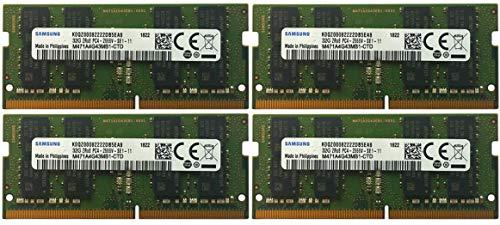 Samsung Juego de 4 tarjetas de memoria, 32 GB, 260 pines, DD