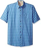 Wrangler Authentics Men's Short Sleeve Plaid Woven Shirt, Rivera, XL