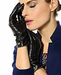 Best Gloves For Driving In Winter - Elma Women's Classic Driving Leather Gloves