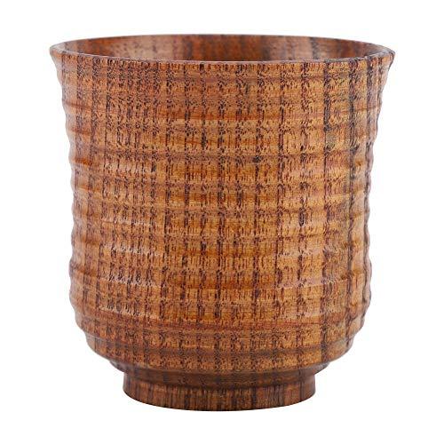 Taza de madera hecha a mano de madera natural café té cerveza jugo leche taza, para café cerveza té jugo leche