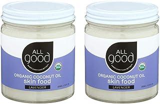 All Good Organic Coconut Oil Skin Food   Great Christmas Gift & Stocking Stuffer   Natural Moisturizing Skin Care (Lavende...