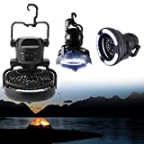 LIYUDL 2 IN 1 Portable LED Camping Lantern with Ceiling Fan Combo 18 LED Flashlight Ceiling Fan for Outdoor Hiking Fishing Outages and Emergencies Tent Lantern Outdoor 18 LED Lamp