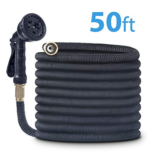 CACAGOO Garden Hose, 50 FT Expandable Water Hose with Double Latex Core, Flexible Hose with 8 Functions Sprayer
