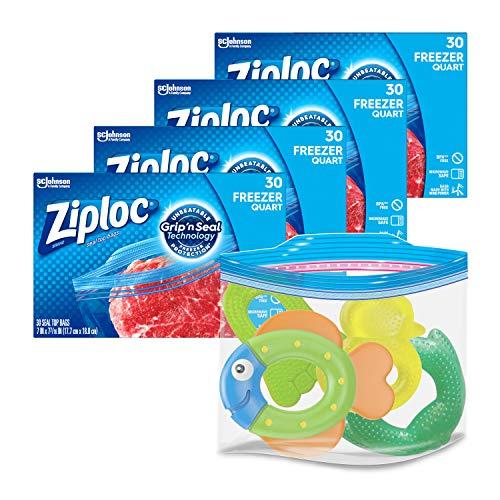 freezer quart ziploc - 2