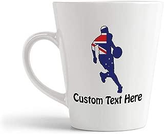 Ceramic Custom Latte Coffee Mug Cup Basketball Player Australia Sports Tea Cup 12 Oz Personalized Text Here