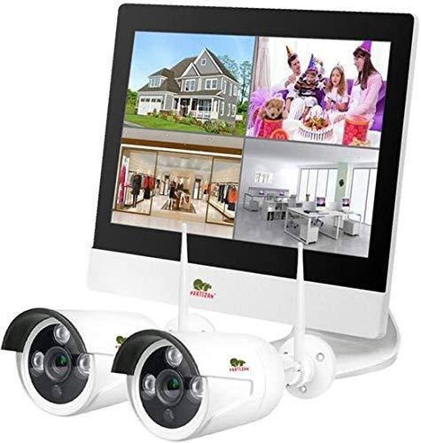 Beveiligings Camera Outdoor draadloze kit LCD 2 camera's met 2 megapixel