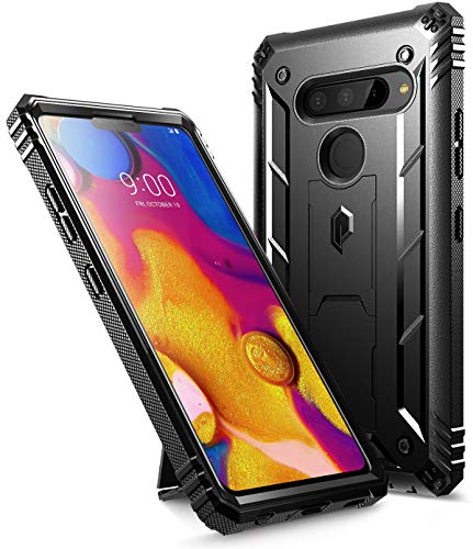 LG V40 ThinQ Rugged Case, LG V40 Rugged Case, Poetic Revolution [360 Degree Protection] Full-Body Rugged Heavy Duty Case with [Built-in-Screen Protector] for LG V40 / LG V40 ThinQ (2018) - Black