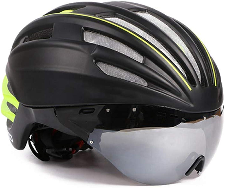 Bicycle Helmet Men Women Teens Helmet with Adjustable Lens Mountain Road Sports Cool Predective Helmet