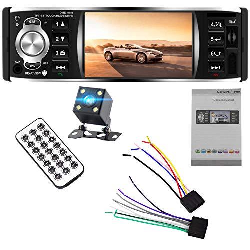 Shumo 1Din Autoradio Un 4.1 Pollici con Schermo Un Contatto Auto Audio Stereo FM 2.0 Mp5 Fotocamera Dme-4019