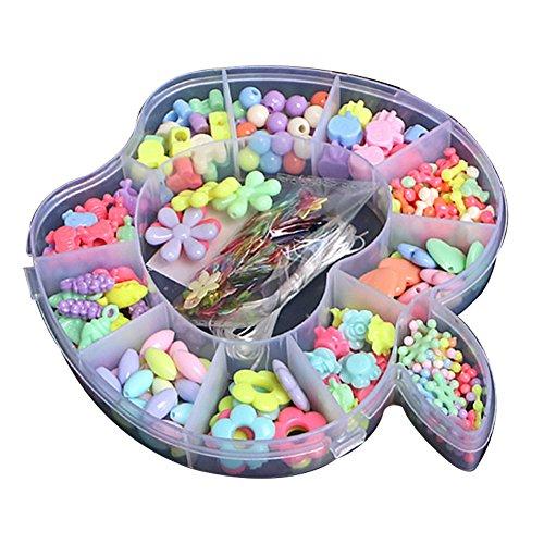 Ndier Cuentas de juguete para niños DIY, para niñas, puzle de mano usada, cuentas de hámbliopía, hiper-formación, entrenamiento, cuentas (Apple)