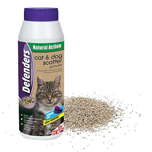 Defenders Gránulos de dispersión para perros y gatos 500g, Repelente para gatos de jardín