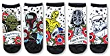 Star Wars Tattoo Inspired Art Vader Fett Yoda Juniors/Womens 5 Pack Ankle Socks Size 4-10