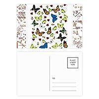 空飛ぶ蝶の異なるサイズ 公式ポストカードセットサンクスカード郵送側20個