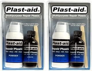 2-Pack Plast-Aid Acrylic, PVC, ABS, CPVC, Plastic Repair Kit - 2 x 6 oz. Kits (12 oz. total) by Plast-aid