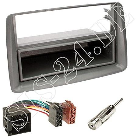 Niq 2 Din Radioblende Für Fiat Panda Bj 2003 2012 Elektronik