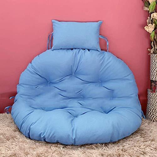 WGG Dik Opknoping Ei Hangstoel Kussens Zonder Staand, Comfortabele Swing Seat Kussens Nest Hangende Stoel Terug met Kussen D105cm(41inch) Blauw