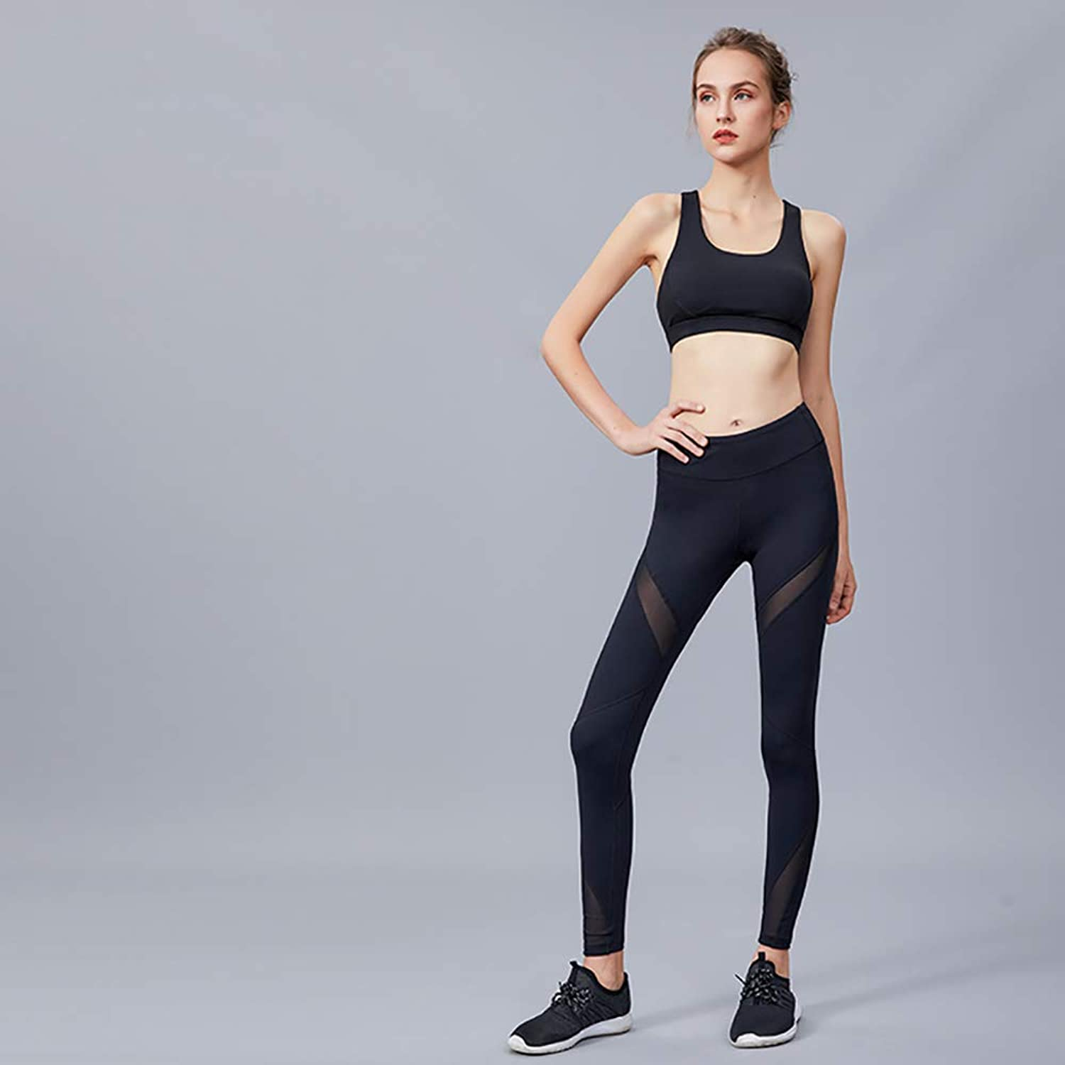 Yoga Clothing Suit Sports Suit Running Body Sports Fitness Slim Yoga Set Tight Body Quick-Drying Fitness Clothes Sports Bra Female