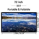 Bonheur Außen Projektor Bildschirm 72 Zoll 16: 9 HD Heimkino-Projektionswand Portable - faltbares...