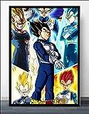 DIY Pintar por números Dragon Ball Goku Anime japonés Manga Ultra Instinct Art Painting pintura...