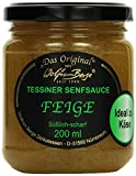 Wolfram Berge Original Tessiner Grüne Feigen-Senfsauce - Feinkostsauce aus pürierten kandierten Feigen mit fein-scharfem Senfgeschmack.Hergestellt im Schweizer Tessin, 1er Pack (1 x 200...