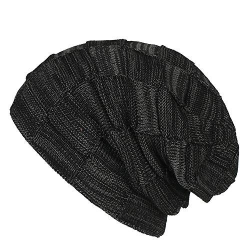 SWEDREAM Sombrero de Invierno Gorros de Punto Gorras para Mujeres y Hombres Sombreros de Suave Invierno de Lana (Negro)