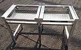 Waschmaschinen Untergestell Waschmaschinensockel Mara 2 Premium 6 70 cm hoch 2 Auszüge rappelfrei/6 Standbeine/Speziell für stark schwingende Maschinen extra verstärkte Alu-Ausführung rostfrei