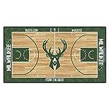 FanMATS NBA Milwaukee Bucks - Corredor de la NBA de Nailon para la Corte (Talla pequeña)