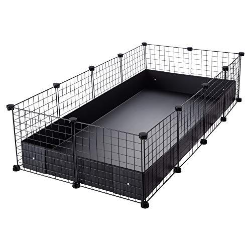 CagesCubes - Jaula CyC Grande (2X4 Paneles en Negro) + Base de...