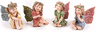 Darice Mini Fairy Garden Fairy with Gem, 1.25 x 2 Inches, Style Varies