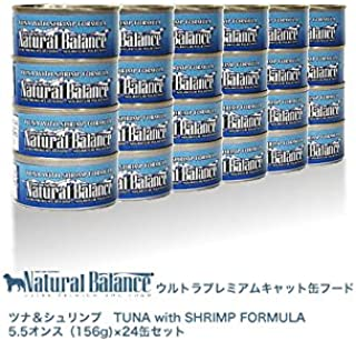 ナチュラルバランス ツナ&シュリンプ缶 156g×24缶
