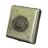 Caja de Cigarrillos Retro Metal, Puede Contener 20 Cigarrillos, Caja de Cigarrillos a Prueba de presión y a Prueba de Humedad
