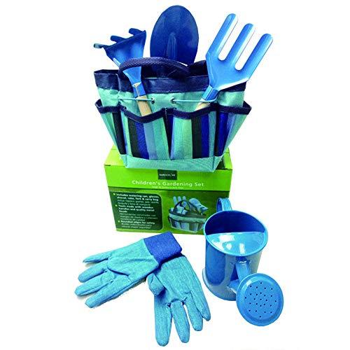 YunNasi Juego de Herramientas de Jardín para Niños Conjunto de 6 (Azul)