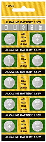 TXY 10pcs Card AG3 Alkaline Cell SR L736 Charlotte Mall Batteries 392 Translated LR41 392A