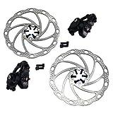 Tektro LYRA MD-C500 Cyclocross CX Road Mechancial Disc Brake Set Front and Rear, Black, MH1872
