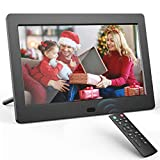 Digital Photo Frame 7 inch Digital Picture Frame with HD IPS Display Photo/Music/Video Player Calendar Alarm Auto On/Off Timer Remote Control