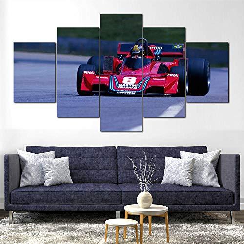 Póster De Lienzo 5 Piezas HD Arte De La Pared Impresa Decoración Dormitorio El Hogar Pintura De La Lona Foto Fórmula 1 (Enmarcado)